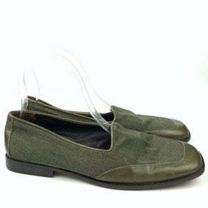 Country shop flats 7.5 Italian leather 80's 90's